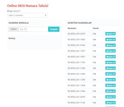 0850 Numara Tahsisi | Verimor Telekom